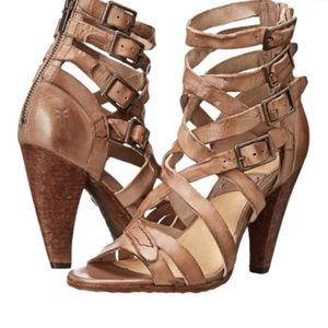 "{FRYE} ""Mika"" Strappy Leather Sandals"